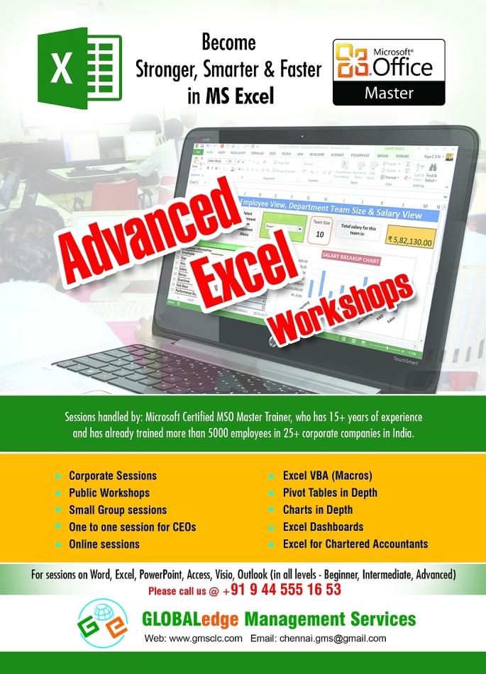 Advanced Excel Workshop